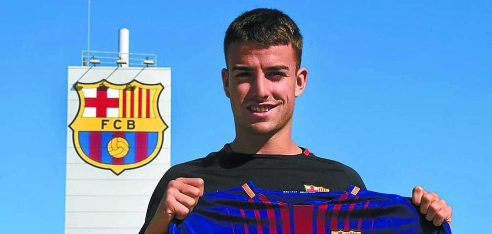 David Concha, presentado con el Barça B