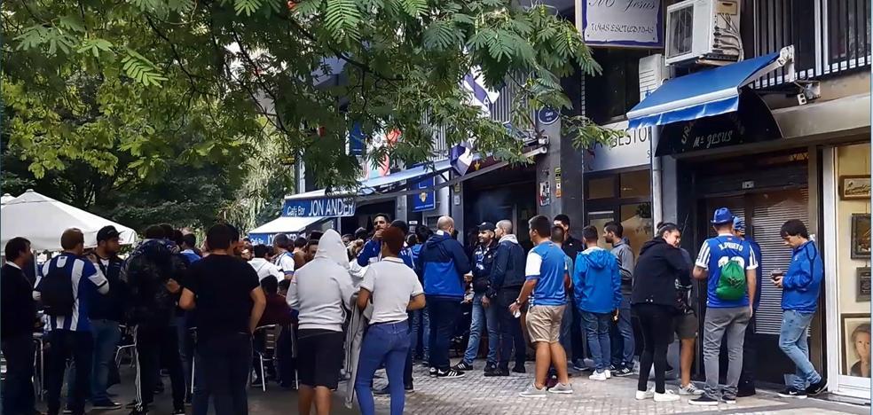 Gran ambiente en los aledaños de Anoeta para el primer partido de Europa League