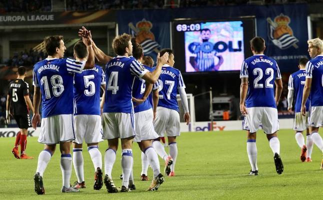 Cómoda victoria europea de la Real Sociedad ante el Vardar