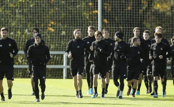 La Real se prepara para medirse al Girona