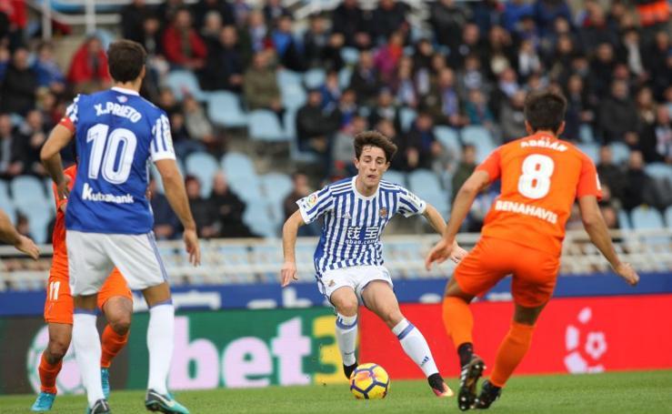 Real Sociedad-Málaga, en imágenes