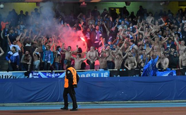 La UEFA abre expediente disciplinario por los incidentes de los ultras del Zenit
