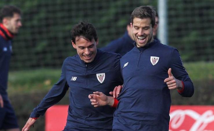 Primer entrenamiento de Iñigo Martínez como jugador del Athletic