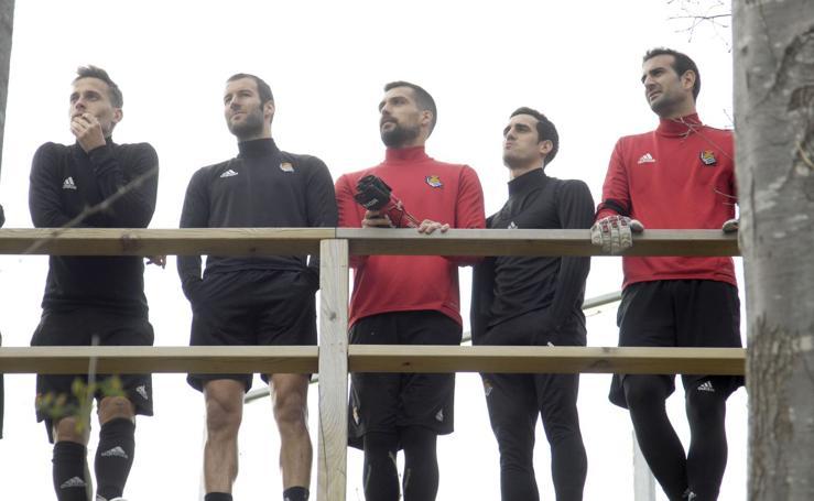 Último entrenamiento antes del partido ante el Alavés