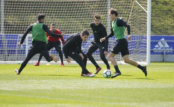 Intenso segundo entrenamiento de Imanol Alguacil al frente del equipo
