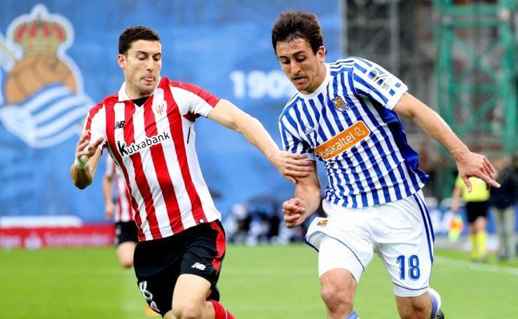 Partido de la Real Sociedad y el Athletic, en imágenes