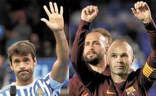 Adiós a Xabi Prieto e Iniesta, dos caballeros del fútbol