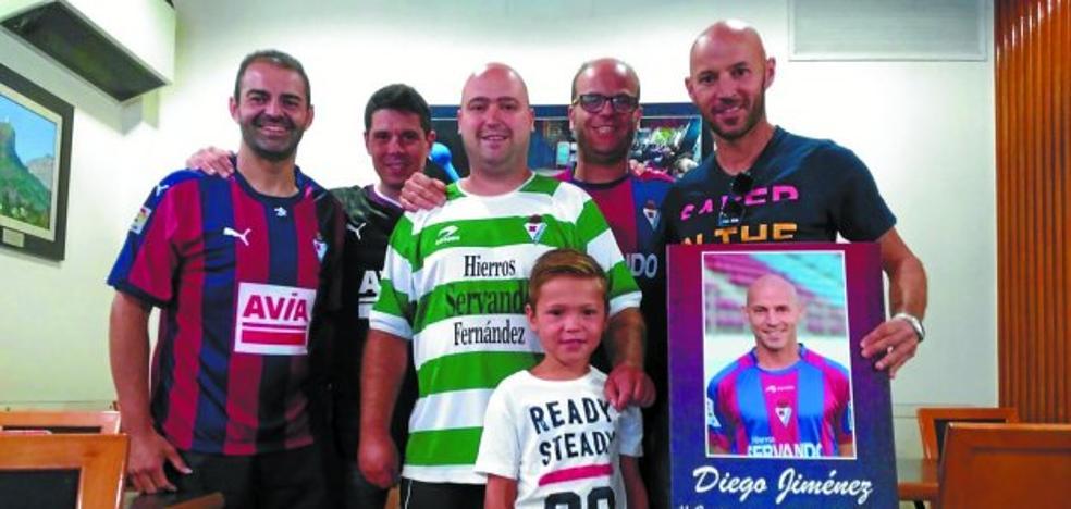 Diego Jiménez guarda un recuerdo inolvidable del Eibar y de su gente