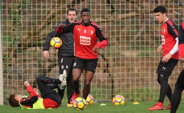 Diop ya entrena con el Eibar