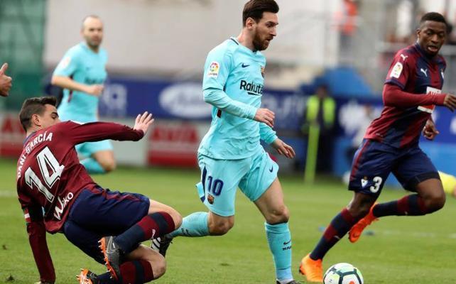 El Eibar cae en Ipurua ante el Barcelona