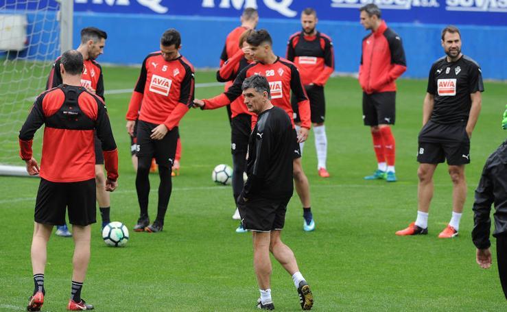 El Eibar entrena en Ipurua con la mirada puesta en el Atlético de Madrid