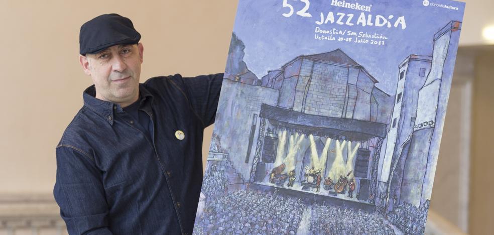 Un vibrante cuadro de Roskow para el cartel del Jazzaldia