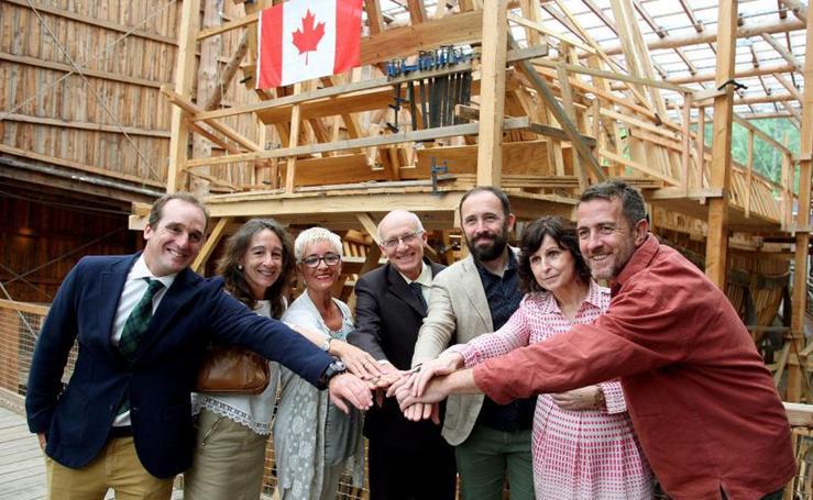 Canadá y Euskadi estrechan lazos históricos ante el galeón 'San Juan'