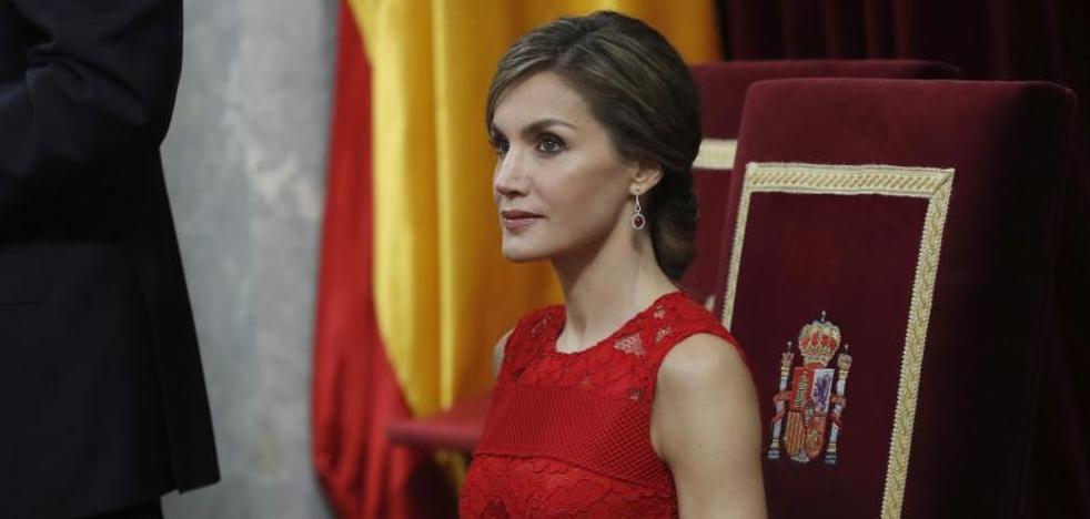 Letizia, todo al rojo