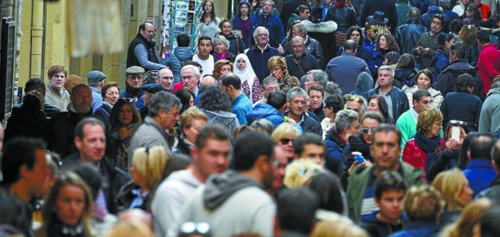 La afluencia de público a la Parte Vieja cae un 8% en el primer cuatrimestre del año