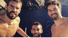 Una foto de los hermanos Gasol, objeto de bromas en EE UU
