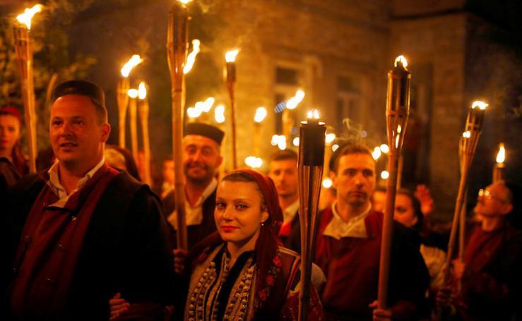 El festival nupcial de Galicnik, Macedonia