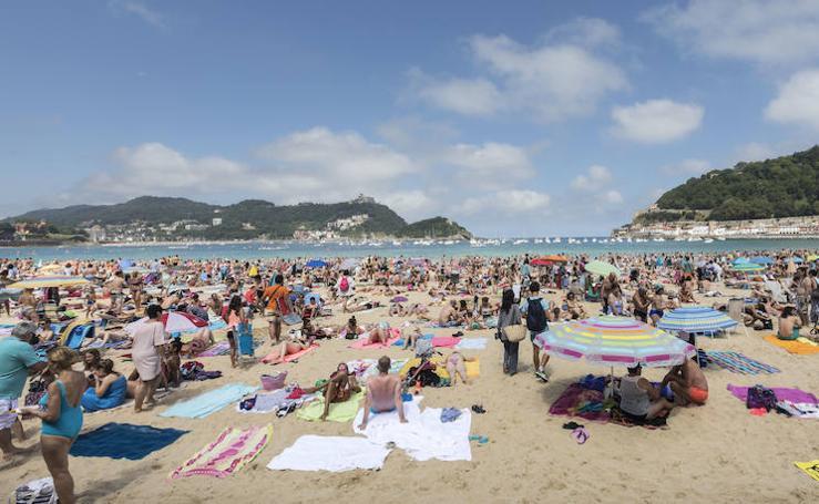 Día de playa en San Sebastián