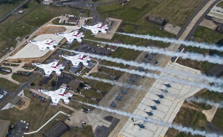Exhibición de las Fuerzas Aéreas Británicas