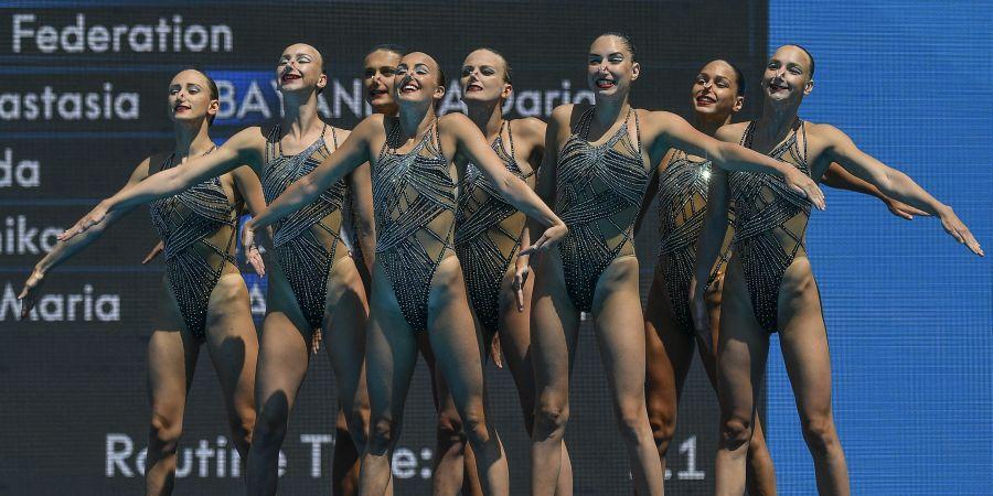 Final de Natación Sincronizada femenina por equipos en imágenes