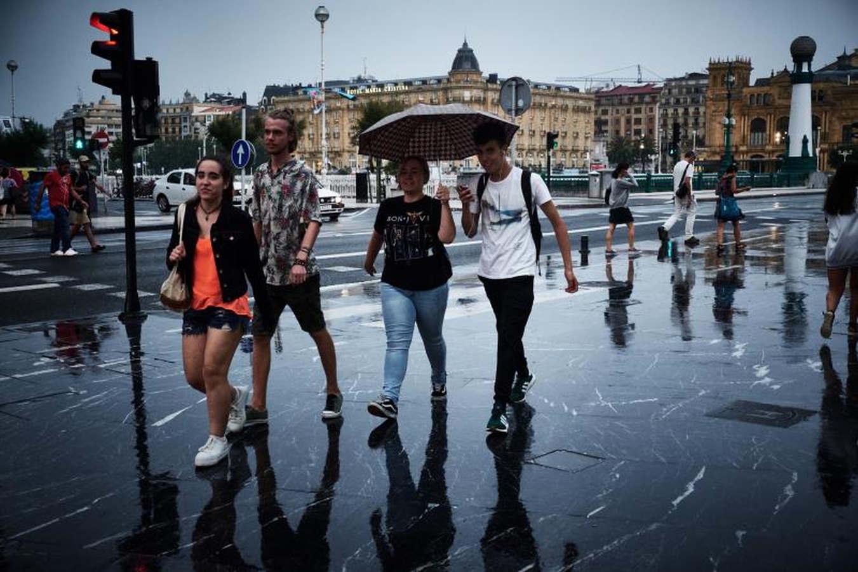 Gipuzkoa se despide de la ola de calor y da la bienvenida a las lluvia