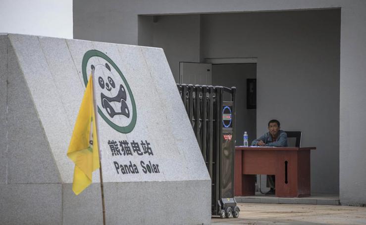 Nueva Planta de Energía Solar con forma de Panda en China