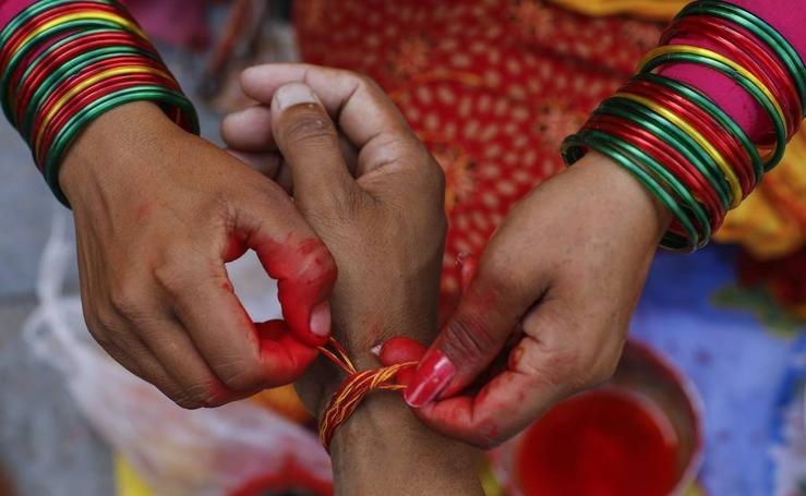 Los hilos sagrados de los hindúes