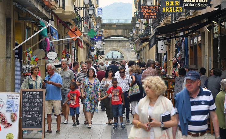 Donostia, abarrotada de turistas