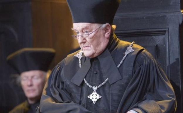 Robert Hardy en 'Harry Potter'./