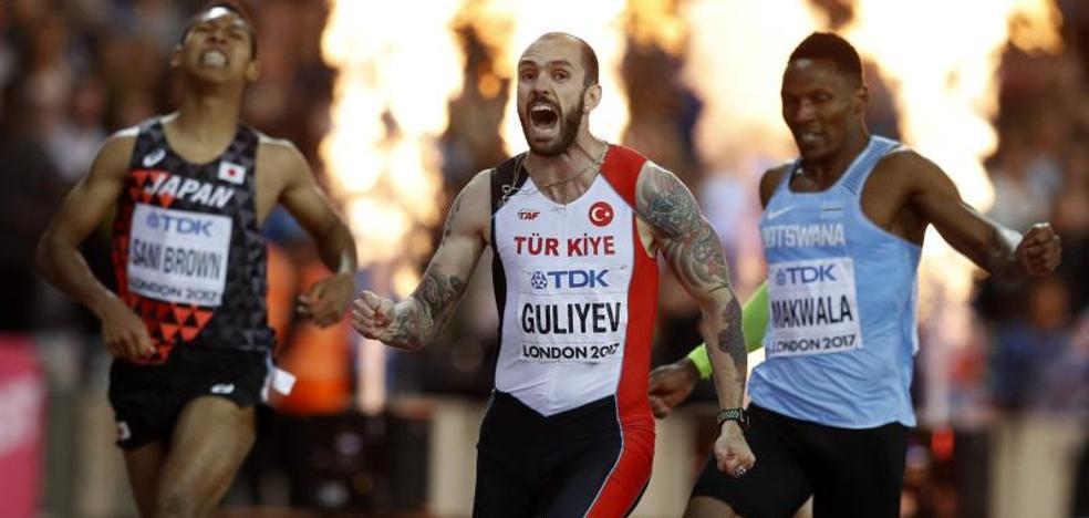 Guliyev da la sorpresa en el 200