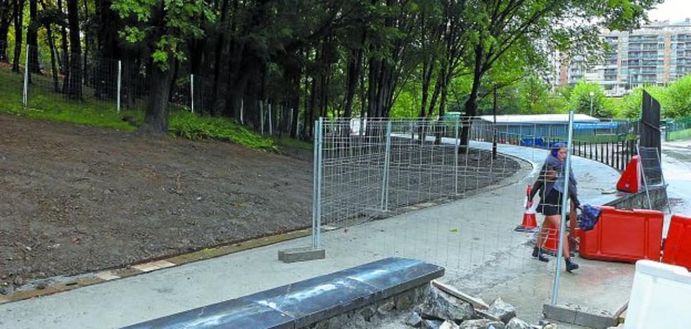 El nuevo camino del parque Cristina Enea se abrirá este fin de semana