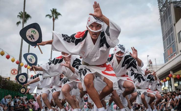 El festival de la danza en Tokushima (Japón)