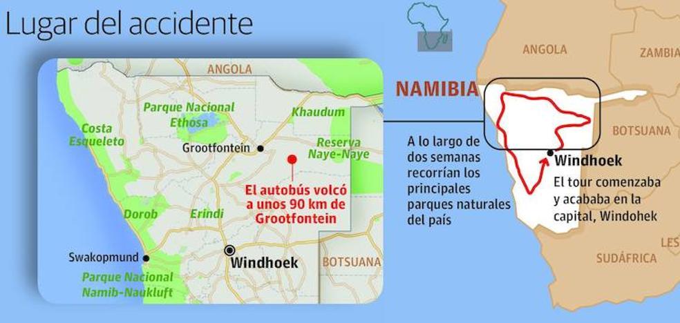 Una turista bilbaína de 31 años muere en un accidente en Namibia