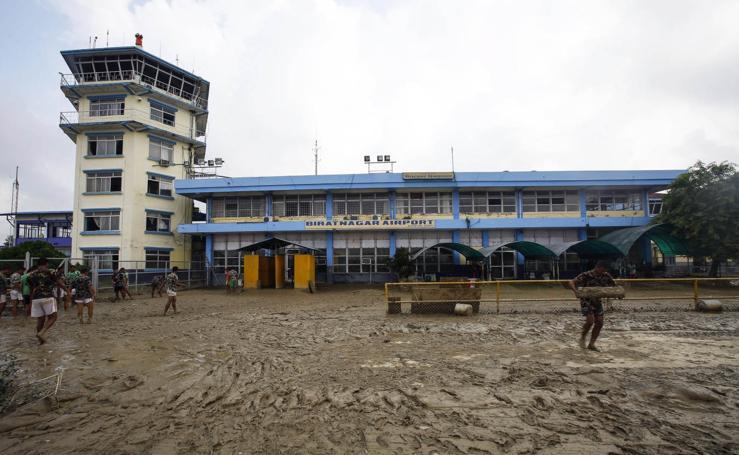 Así ha quedado Nepal tras las inundaciones