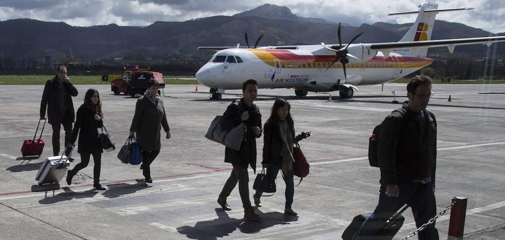 El tráfico de pasajeros del aeropuerto de Hondarribia crece un 10,1% en julio