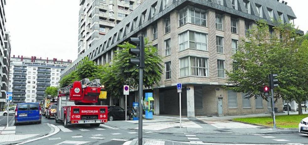 Pequeño incendio en la calle Podavines