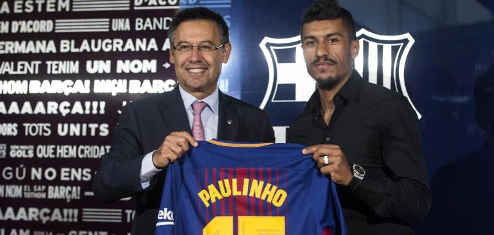 Bartomeu: «Paulinho es petición de la secretaría técnica y el entrenador»