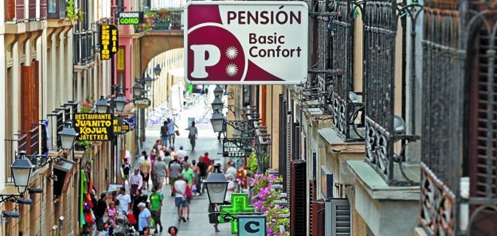 El 40% de las pensiones y hostales de la ciudad están en la Parte Vieja