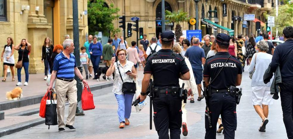 La Ertzaintza extremará la vigilancia en zonas de mayor afluencia de personas