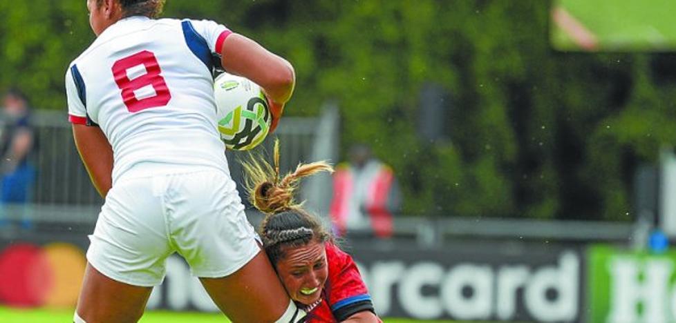 Amaia Erbina jugó el segundo tiempo en el partido que las 'Leonas' ganaron a Italia 22-8