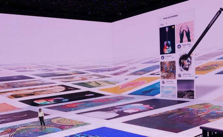 Espectacular presentación del último móvil de Samsung