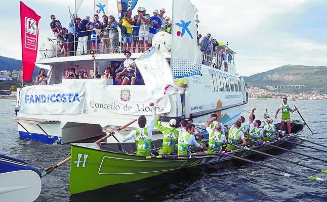 Hondarribia supera en Moaña a Orio en el vídeo-finish