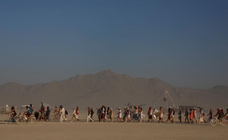 Metrópoli temporal en el desierto