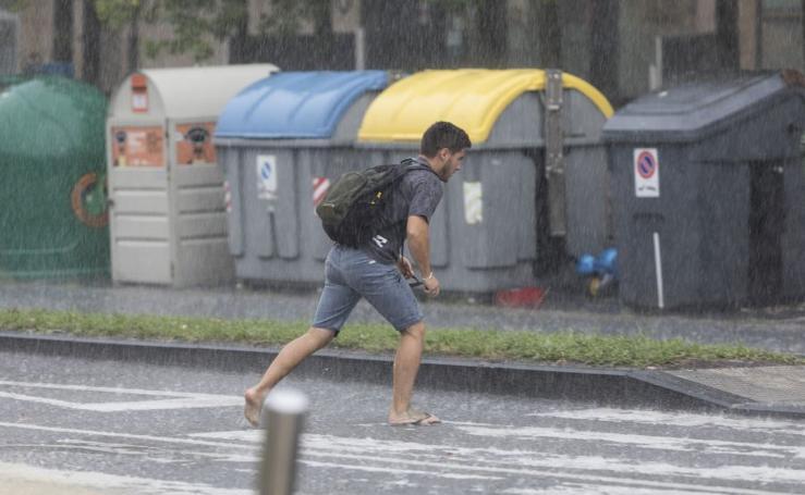 Lluvias intensas en todo Gipuzkoa