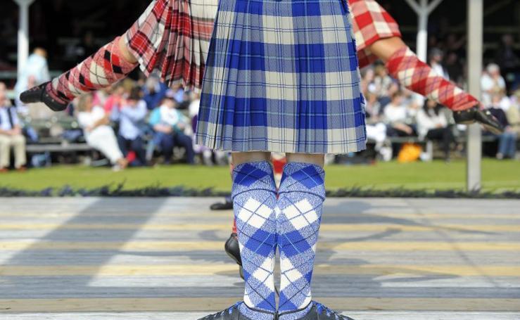 Juegos escoceses en las Highlands