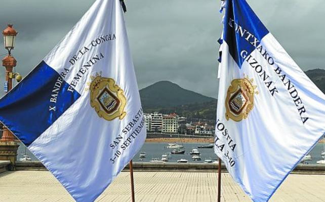 Goia pide que las banderas de La Concha vuelvan a bordarse en Donostia