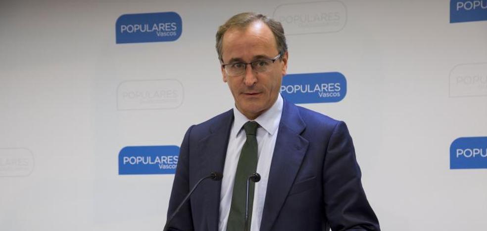 Alonso rechaza que las transferencias pendientes sean un «obstáculo» para la colaboración PNV-PP