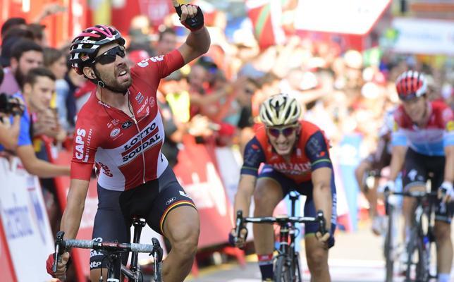 De Gendt gana en Gijón y Contador volvió a atacar