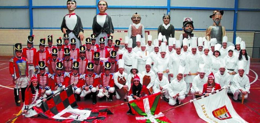 La tamborrada de Lasarte-Oria, en las fiestas de Miranda de Ebro