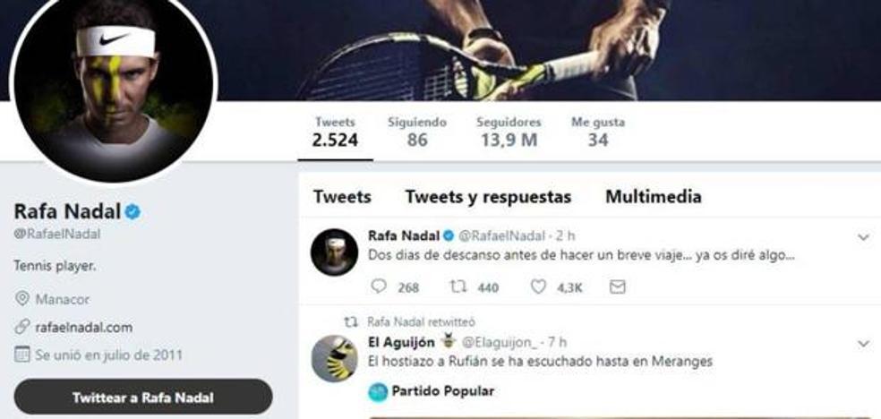 Hackean la cuenta de Twitter de Rafa Nadal